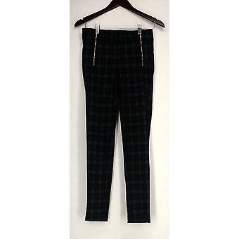 Kate & Mallory Leggings High Density Front Zippers Black/ Gray A426783