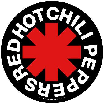 Red Hot Chili Peppers Asterisk runde sy-på klud backpatch 275mm diameter (RZ)
