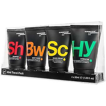 Kit Sp cial Avion - Shampoo / Dusche Gel / Cr mich Rasieren / Feuchtigkeitsspender und Transparante Kit