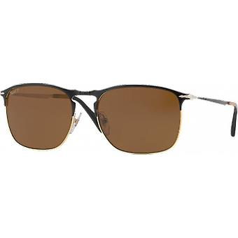 Persol 7359S Large BlackGolden Polarized Brown
