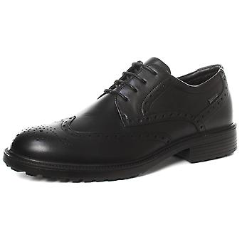Imac M9582A Black Mens Water Resistant Brogue Gibson Shoes