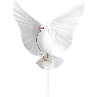 Folienballon mit Stab Taube Hochzeit Frieden