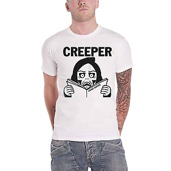 Creeper T Shirt Emo Sux Band Logo horror punk new Official Mens White