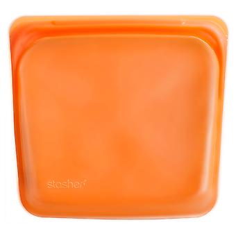 Stasher Plastic-Free Reusable Sandwich Bag, Citrus 19 x 18cm