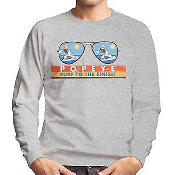 Popeye Sunglasses Surf To The Finish Men's Sweatshirt
