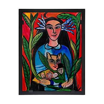 Glass vision-painting-art glass-Madonna Ulrica Hydman Vallien