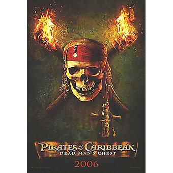 Pirates Of The Caribbean: Dead Man-apos;s Chest (Advance Reprint) (2006) Réimpression Cinema Poster