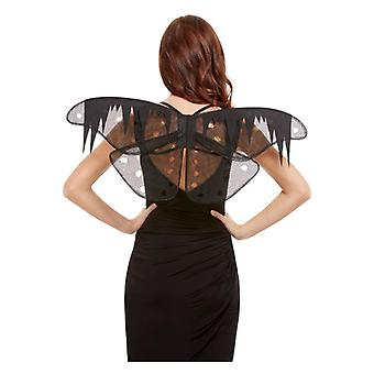 Nödställda Moth vingar Halloween fancy dress tillbehör