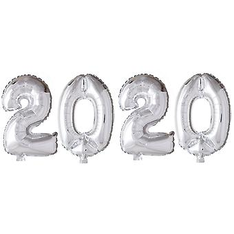 Numbers Balloons Silver-New Year 2020