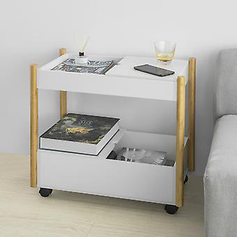 SoBuy 2 Livelli che servono Trolley Storage Shelf Side End Table su ruote,FKW92-WN