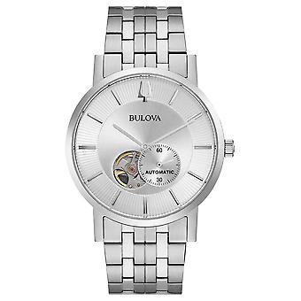 Bulova Hommes Automatique (fr) Bracelet en acier inoxydable Silver Dial 96A238 Montre