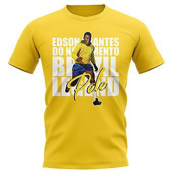 Pele Brazil Player T-Shirt (Yellow)