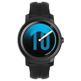تيك ووتش E2 | ساعة الظل الذكية | أسود سيليكون حزام 131586-WG12026-BLK ووتش