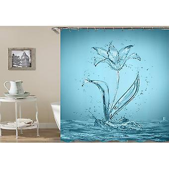 Aqua Rose Shower Curtain