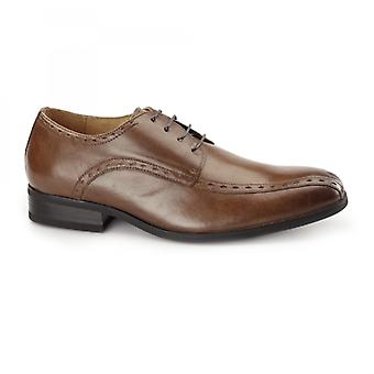 Azor Regent Mens Leather Oxford Smart Shoes Tan