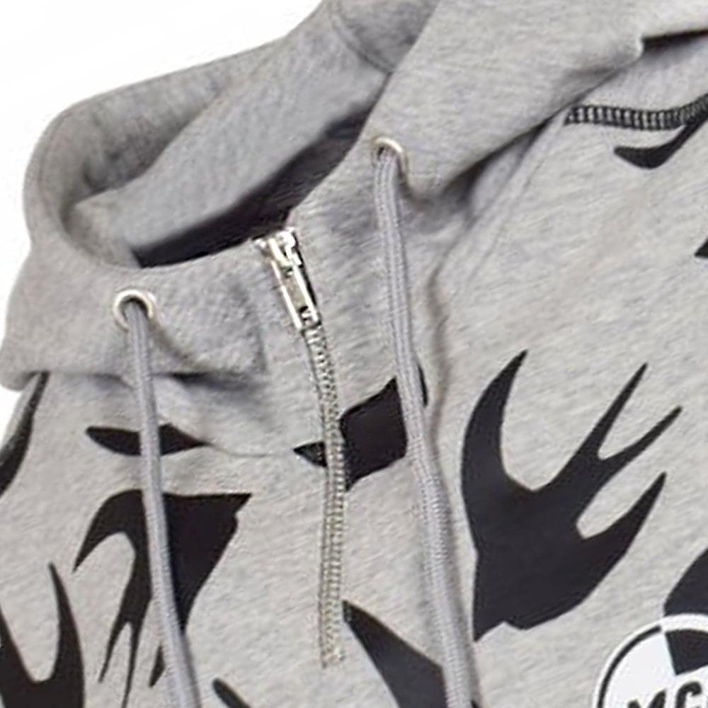 Mcq Alexander Mcqueen McQ Alexander McQueen Multi Bird Logo Hoodie Grey