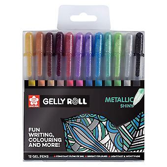 Sakura Gelly Roll Metallic Set of 12 Gel Pens