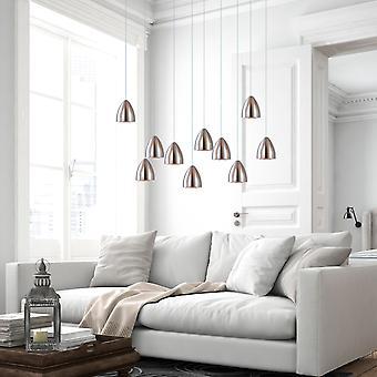 Terra 10 Mini Pendant LightingNickel - LED Hanging Light Fixture