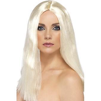 Long Blonde Straight Wig, Star Style Wig, Superstar Fancy Dress Accessory