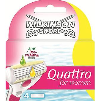 Wilkinson Wilkinson sword quattro for women sensitive blades charger 3 + 1