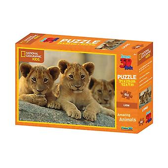 Prime 3D Puzzle 31x23cm 63st. African Lions National Geographic 4+