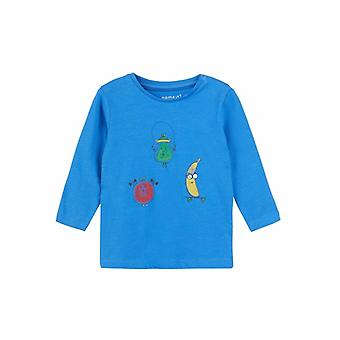 Name It Jongens Blauwe Tshirt Demal Strong Blue