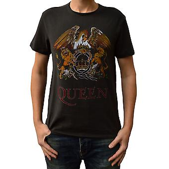 Amplified Queen Full Colour Royal Crest Crew Neck T-Shirt