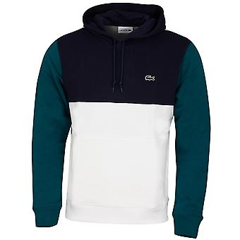 Lacoste Mens SH8865 Ribbed Fleece Embroidered Crocodile Hoodie