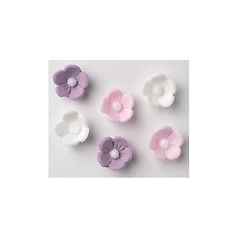 Culpitt Surtido Flores de Azúcar - Blanco, Lila, Rosa