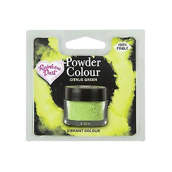 Rainbow Dust Jadalne Matt Powder Dust Colour 4g Citrus Green