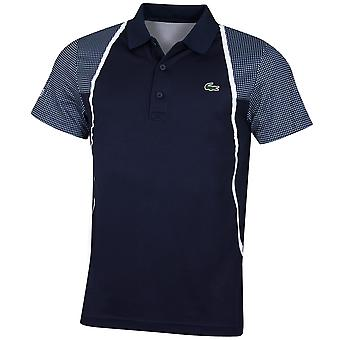 Lacoste Mens DH4776 Ultra Dry Pique Ribbed Collar Crocodile Polo Shirt