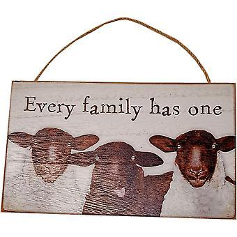 Chaque famille a une plaque de mouton