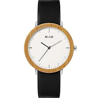 Mam Original Japanese Quartz Analog Man Watch with FERRA 624 Cowskin Bracelet