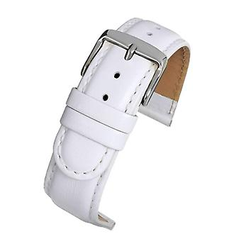 Calf leather watch strap white padded