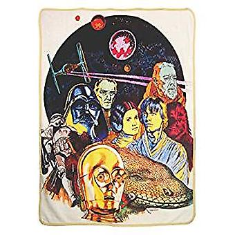 Super Soft Throws - Star Wars Classic - Retro Collage New 45x60