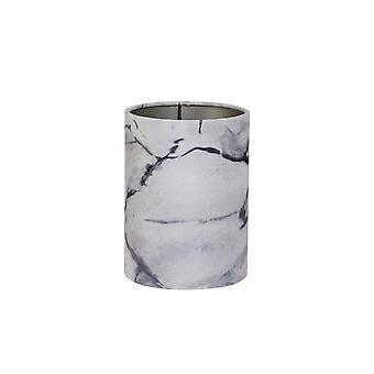 Licht & Living Zylinder Schatten 15x15x17.5cm Marmor grau