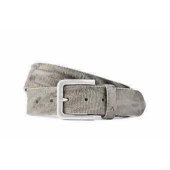 Luxus Herren Gürtel mit einzigartiger Struktur in grauer Farbe