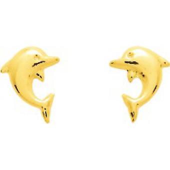 Ohrringe Dolphins Gold 375/1000 gelb (9K)