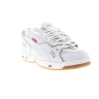 Globe CT IV Classic  Mens White Leather Lace Up Athletic Skate Shoes