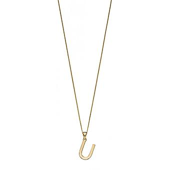 Joshua James 9ct Gold Letter U Pendant