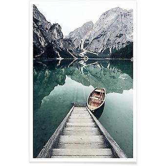 JUNIQE Print - Calm Waters by @rwam - Mountains Poster in Colorful