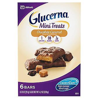 Glucerna nutrition bars mini snacks, chocolate caramel, 6 ea