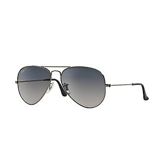 Ray-Ban Aviator RB3025 004/78 Gunmetal /Polarised Blue Gradient Grey Sonnenbrille