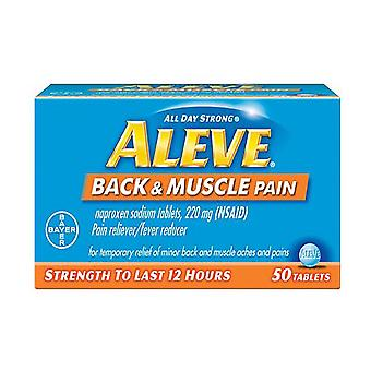 Aleve back & muscle pain, pain reliever/fever reducer, tablets, 50 ea