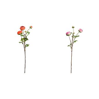 Hill Interiors Artificial Single Tall Stem Ranunculus