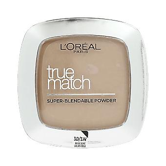 Loreal True Match Super Blendable Face Powder 3.D/3.W Golden Beige 9g