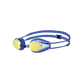 Arena Tracks Junior Mirror Swim Goggle-Mirrored Lens-Blue/Yellow