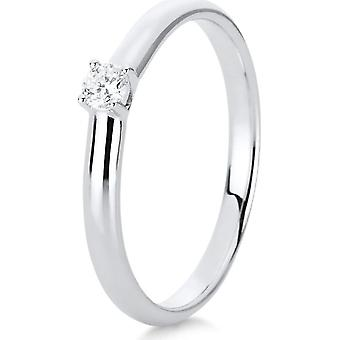 Diamond Ring Ring - 18K 750/- White Gold - 0.1 ct. - 1A439W856 - Ring width: 56
