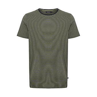 Jermane Light Army Green Striped T-Shirt