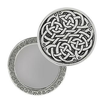 Orton West Celtic Knot Compact Mirror - Silver